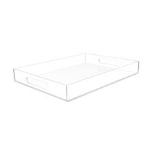 Wholesale Rectangle 12x16 clear acrylic tray,acrylic organizer tray