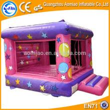 Castelo bouncy cor-de-rosa e roxo, bouncer inflável do trampolim inflável do bouncer do ar da alta qualidade venda