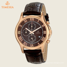 Men′s Chronograph Rose-Gold Strap Watch 72550