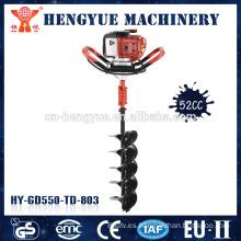 gas de pesca herramientas de perforación accionado cavador del agujero de suelo excavadora motor taladro mini post