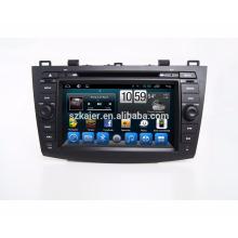 Jogador do reprodutor de DVD do carro do núcleo do Qcta do andróide Kaier 7.1 / reprodutor de DVD do carro para Mazda 3 2010-2011 com Bluetooth, SWC, tevê