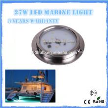 Luz subaquática da alta qualidade 27w IP68 LED, iate do SS 316 LED, barco, luz marinha