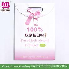 Bolsa de papel 100% de color rosa perforada para colágeno hidrolizado puro