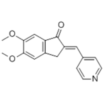 1H-Inden-1-one,2,3-dihydro-5,6-dimethoxy-2-(4-pyridinylmethylene)-  CAS 4803-74-1