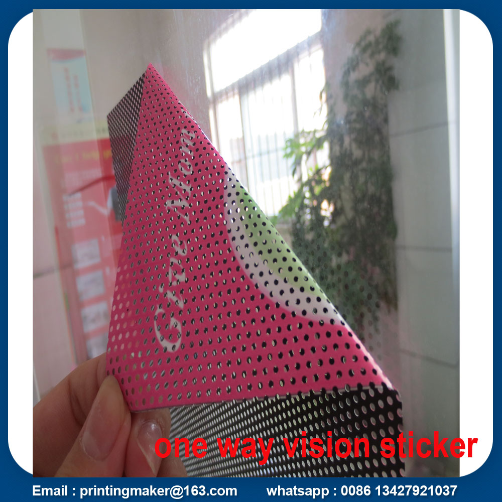 self adhesive one way vision sticker