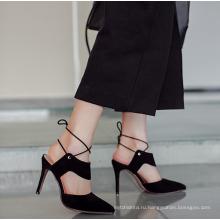 женщины дамы замша кожа шить цвет 8 см высокий каблук мода обувь