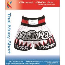 100% Polyester sports gym compression boxer shorts ,muay thai shorts ,mma shorts