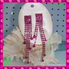 Красивые серьги с серьгами из серьги с капюшоном Серьги из персикового сердца, серьги с драгоценными камнями