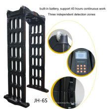 détecteur de métaux portatif extérieur de cadre de porte, scanner portatif