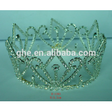crown metal comb fashion crystal beads crown tiara headpiece silver king crown tiaras
