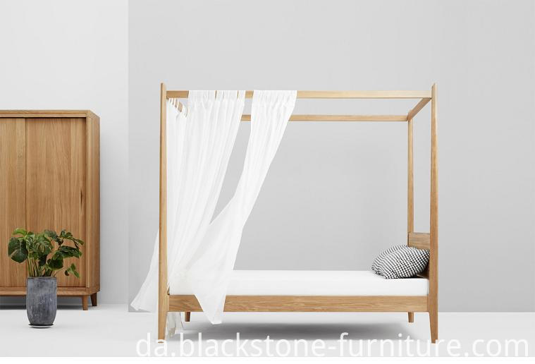 Canopy Bed Wooden Furniture