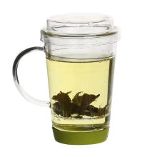 Folhas soltas flor chá Maker vidro copo de chá de cerveja