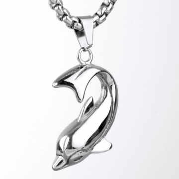 Custom Stainless Steel New Fashion Animal Dolphin Pendant