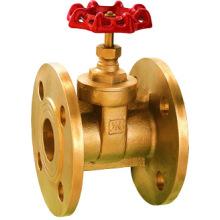 Válvula de compuerta brida de cobre amarillo, precio bajo y alta calidad, válvula de compuerta J1008