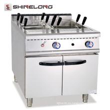 Cocina de pasta de gas libre comercial universal del gas con la cocina de los tallarines del gas del gabinete