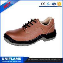 Zapatos de seguridad rojos al por mayor del tobillo bajo atan Ufa083