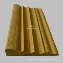 Moldeado de madera de ingeniería moldeado de marco de madera
