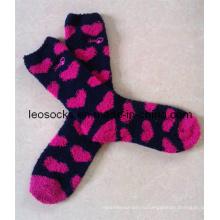 Женские зимние носки с вышивкой из полиэстера
