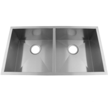 stainless steel handmade double bowl sink