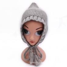 Baby ear flap knitting winter hats woollen hat