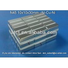 Imanes de bloque de neodimio N52 fuerte