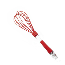 Red Silicone Egg Whisk