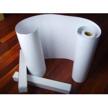 Hoja blanca de PVC en relieve para imprimir