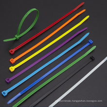 Releasable Self-Locking Black White Cable Tie, reversible color nylon cable tie