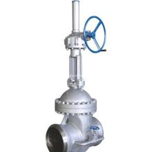 Válvula de compuerta de acero fundido con válvula de paso