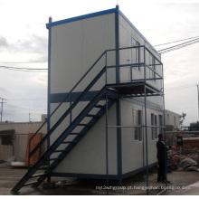 Fácil transporte e montagem de casas de contêiner de dois andares