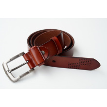 Hot wholesale new man's fashion split leather and full grain leather belt