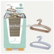 VIAJE BARATO Juego de 10 perchas plásticas para ropa en vitrina pequeña