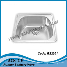 Single Bowl Stainless Steel Kitchen Sink (RS2301)