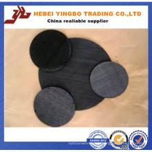 Tissu de matériel enduit de PVC noir de 3,0 mm 3 '' X 3 ''