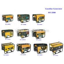 2.5kw 6.5HP Air Cooled Electric Start 220V 380V Petrol Portable Movable 8500w Gasoline Generator