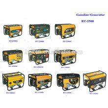 2.5kw 6.5HP Ar Arrefecido Electric Start 220V 380V Gasolina Portable Movable 8500w Gasoline Generator