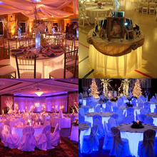 Wireless wedding decoration centerpieces undertable light