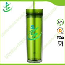 Coupe de paille acrylique promotionnelle 16 Oz sans BPA