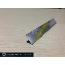 T Piso Aluminio Transición Tile Edge Trim Plata Brillante