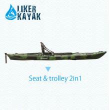 Barcos de pesca do caiaque 4.3m único assento LLDPE / HDPE OEM / Pdm disponível