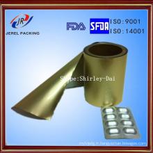 Alu NY / Alu / PVC froid trois composé composé feuille pour l'emballage de boursouflure