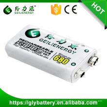 Geilienergy Recarregável Li-ion 680mAh bateria de 9V
