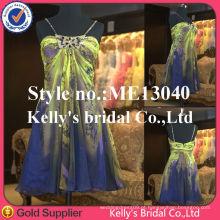 Decente novo chegar strapless lindos vestidos de dama de honra curto coral cor