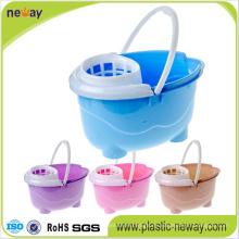 Squeeze Plastic Mop Bucket mit Rädern