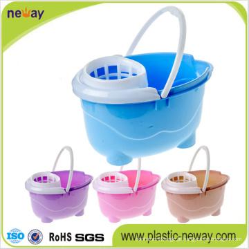 Espremer Mop balde de plástico com rodas