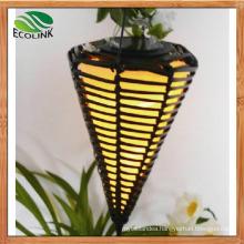 Solar Decorative Lights Ratten Cone Light