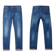 Factory Men Cotton Pants Fashion Denim Jeans para 2017