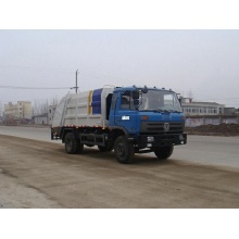 Dongfeng green mack man garbage truck compactor