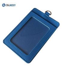 Portatarjetas de PVC suave de encargo del tamaño CR80 / titular de la tarjeta de la identificación del cuero