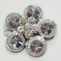 Zinc Alloy Flowers Shoe Buckle with Acrylic Diamante